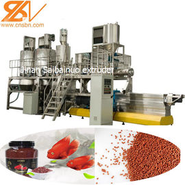 China Pet Fish Feed Extruder Machine Production Line , Dog Food Extrusion Machine supplier