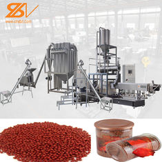 China Continuous Floating Fish Feed Pellet Machine , Fish Feeding Equipment supplier