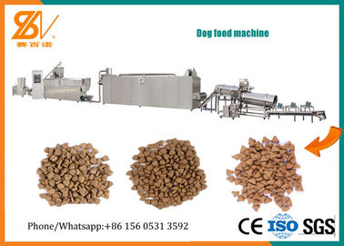 China Dry Wet Dog Food Machine / Pet Food Extruder Multi Functional LS Inverter factory