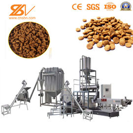 China 2 Screw Extruder Dog Food Production Line , Pet Food Extruder Machine factory