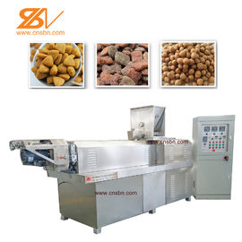 China SLG65 Pet Food Extruder Making Machine , Pet Extruder Machine 38CrMoAlA Screw Material factory