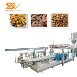 China Automatic Pet Food Extruder Production Line Dog Food Machine Siemens Motor factory
