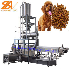 China Double Screw Fish Food Extruder Machine , Dog Food Processing Equipment factory