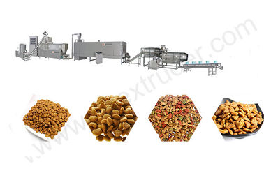China Dry Kibble Pet Food Extruder Machinery Production Line for Dog / Cat / Fish distributor
