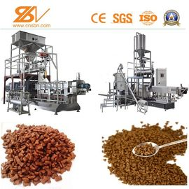 China Twin Screw Pet Kibble Dog Food Machine SLG85 500-600 KG/H Puffed factory